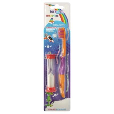 西班牙Foramen 兒童牙刷(附刷牙計時流沙器)
