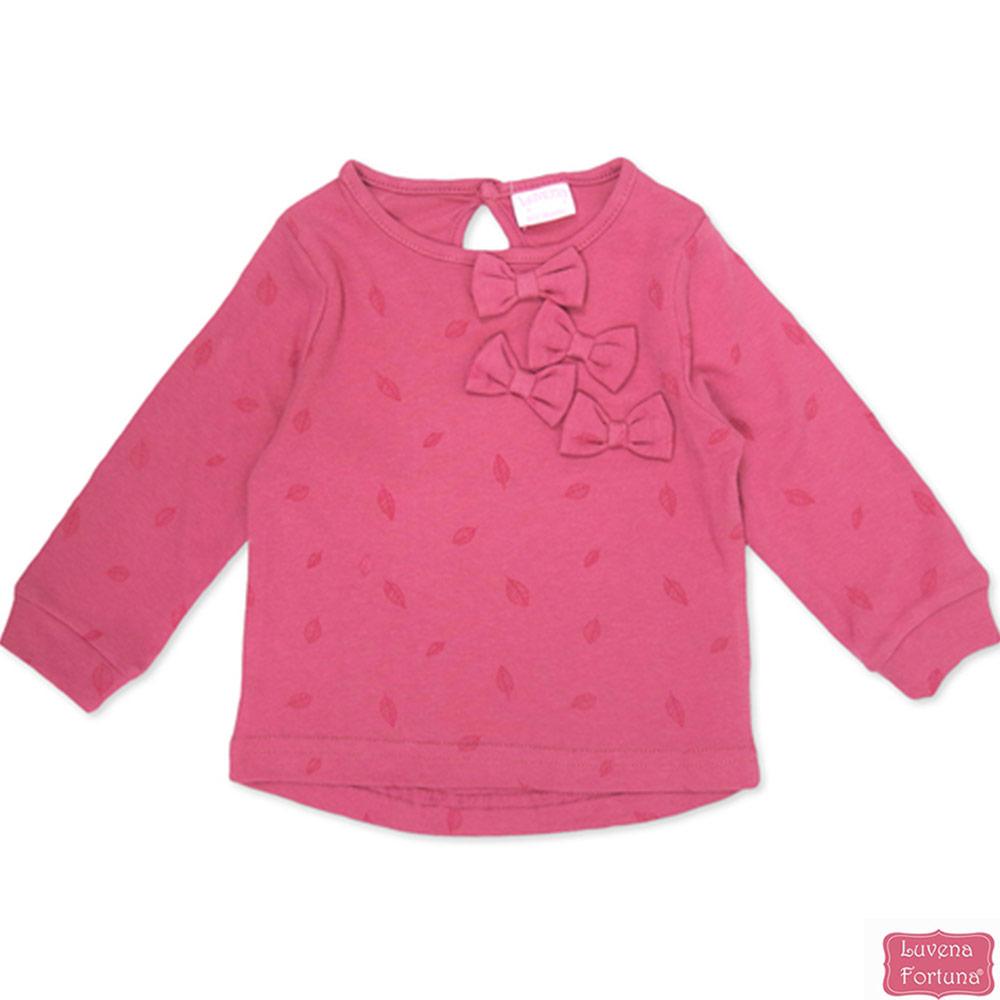 LILY & JACK 英國 桃紅蝴蝶結長袖上衣