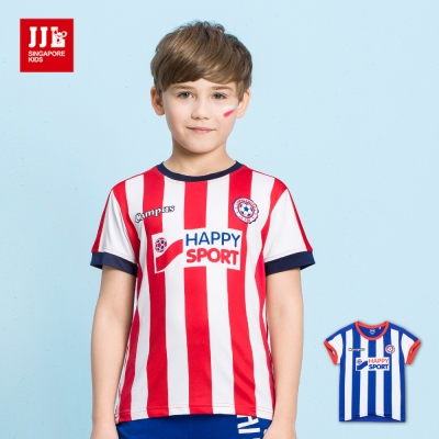JJLKIDS 極速動能足球風直條紋T恤(2色)