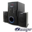 【福利品】Dennys 2.1超重低音FM多媒體喇叭(T-880)