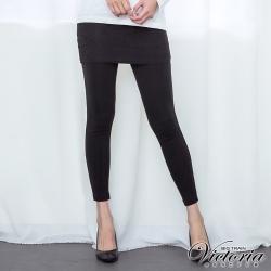 Victoria 蕾絲裙假兩件式內搭褲-女-黑色