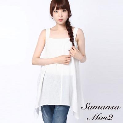 Samansa Mos2 拼布垂擺設計背心洋裝