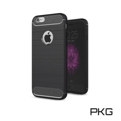 PKG  APPLE IPHONE 6S抗震防摔手機殼-碳纖維紋系列-紳士黑
