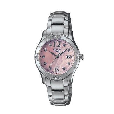 CASIO SHEEN 珍珠母貝小錶面指針錶(SHN-4019DP-4A)-粉/28mm