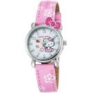 HELLO KITTY 凱蒂貓俏皮寶貝蝴蝶結手錶-粉紅/27mm