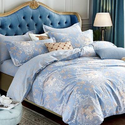 Grace Life 洽逢花開 精梳純棉單人全鋪棉床包兩用被三件組