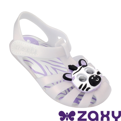 Zaxy 巴西 寶寶 動物甜心寶寶休閒涼鞋-珠光白