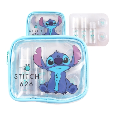 Disney迪士尼旅行瓶罐盥洗化妝萬用史迪奇包組