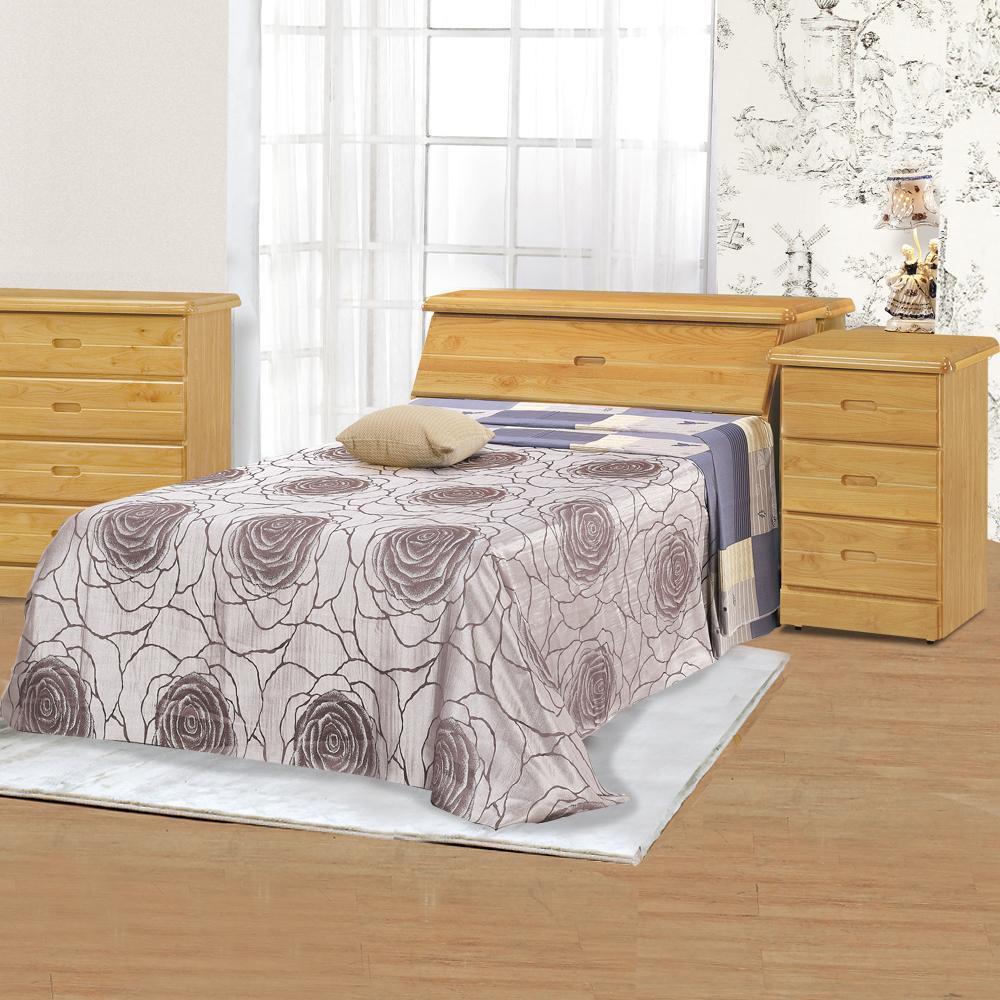 時尚屋 赤陽色3.7尺加大單人床架(不含床墊)