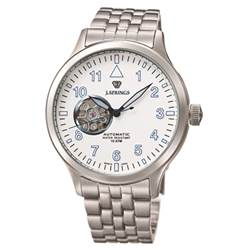 J.SPRINGS Semi-Skeleton 小鏤空機械腕錶-白/42mm