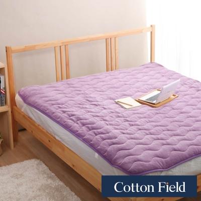 棉花田-暖暖-超細纖維單人保暖墊-薰衣草