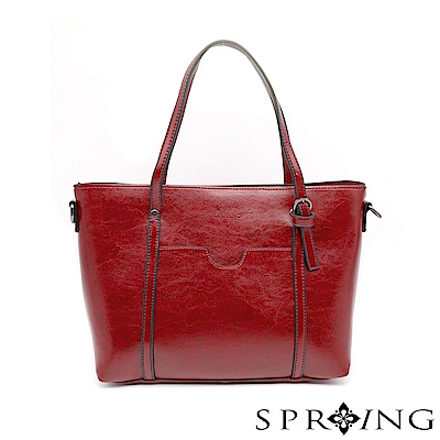 SPRING-清新時尚兩用側肩包-高調紅