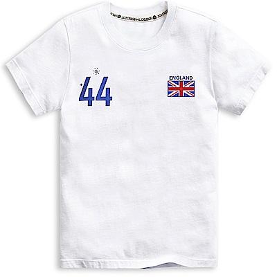 101原創 世足限定T-英國短袖T恤上衣-白