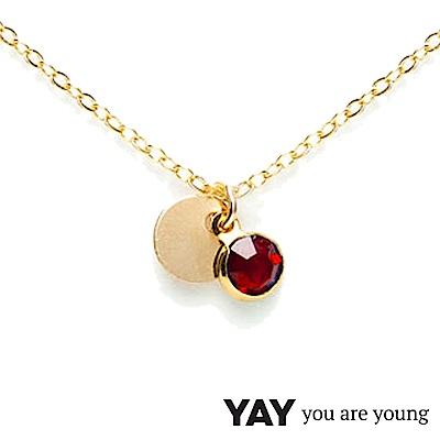 YAY You Are Young 法國品牌 Sultane 紅水晶項鍊 金色