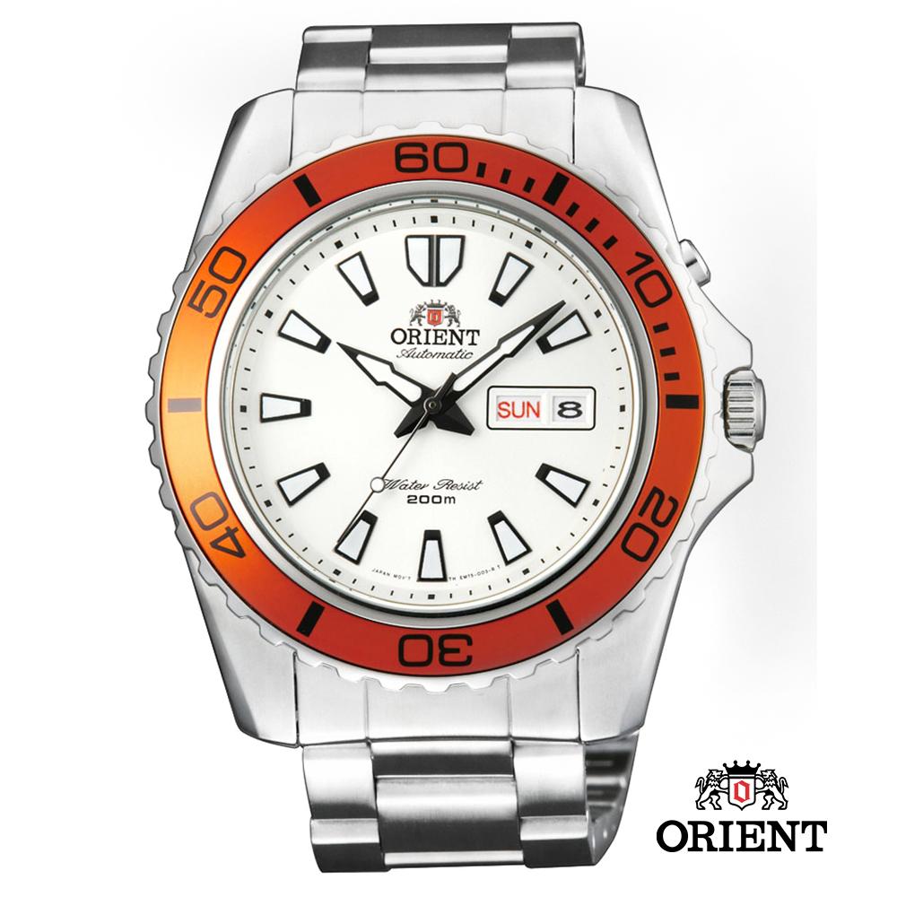 ORIENT 東方錶 WATER RESISTANT系列200m潛水錶-白色/44.5mm