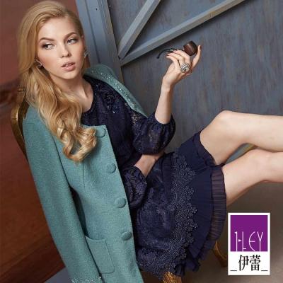 ILEY伊蕾-微金蔥蕾絲雪紡洋裝