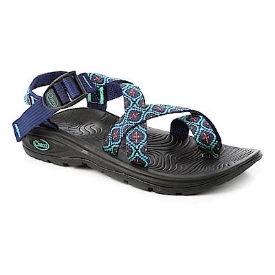 美國Chaco。女 冒險旅遊涼鞋-夾腳款CH-EZW02HC56 (馬賽克鈷綠)