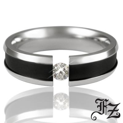 FZ 守護愛情白鋼戒指-男版(戒圍可選)