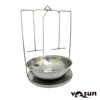 【Farber】台灣製 不鏽鋼 加大桶仔雞爐內吊架