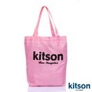 kitson  經典LOGO購物袋/托特包  粉