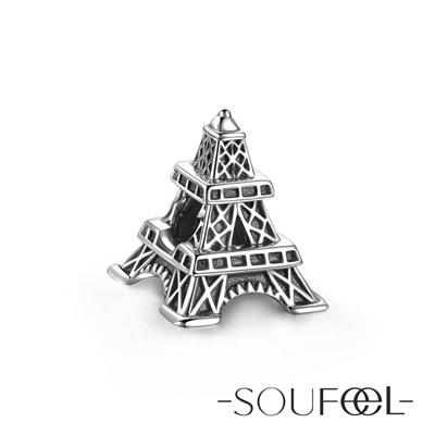 SOUFEEL索菲爾 925純銀珠飾 艾菲爾鐵塔 串珠