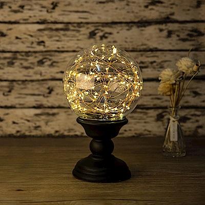法國三寶貝 火樹銀花黑色LED大球燈 無遙控