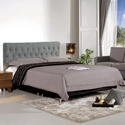 Boden-米希亞6尺灰色雙人加大床組(不含床墊)