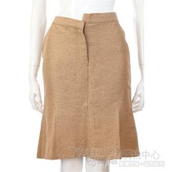 Lorella Braglia 金色不對稱設計金蔥及膝裙