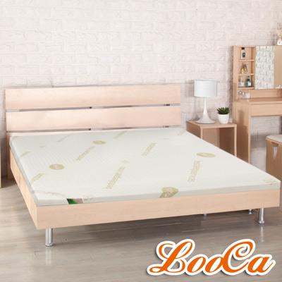 LooCa 高規HT旗艦透氣5cm乳膠床枕毯組 加大