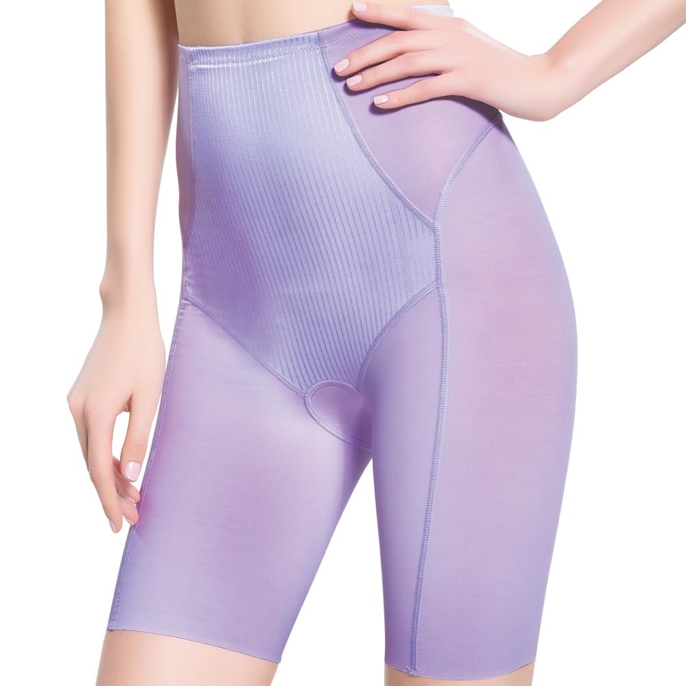 思薇爾 舒曼曲線系列修飾型高腰長筒束褲(花暮紫)