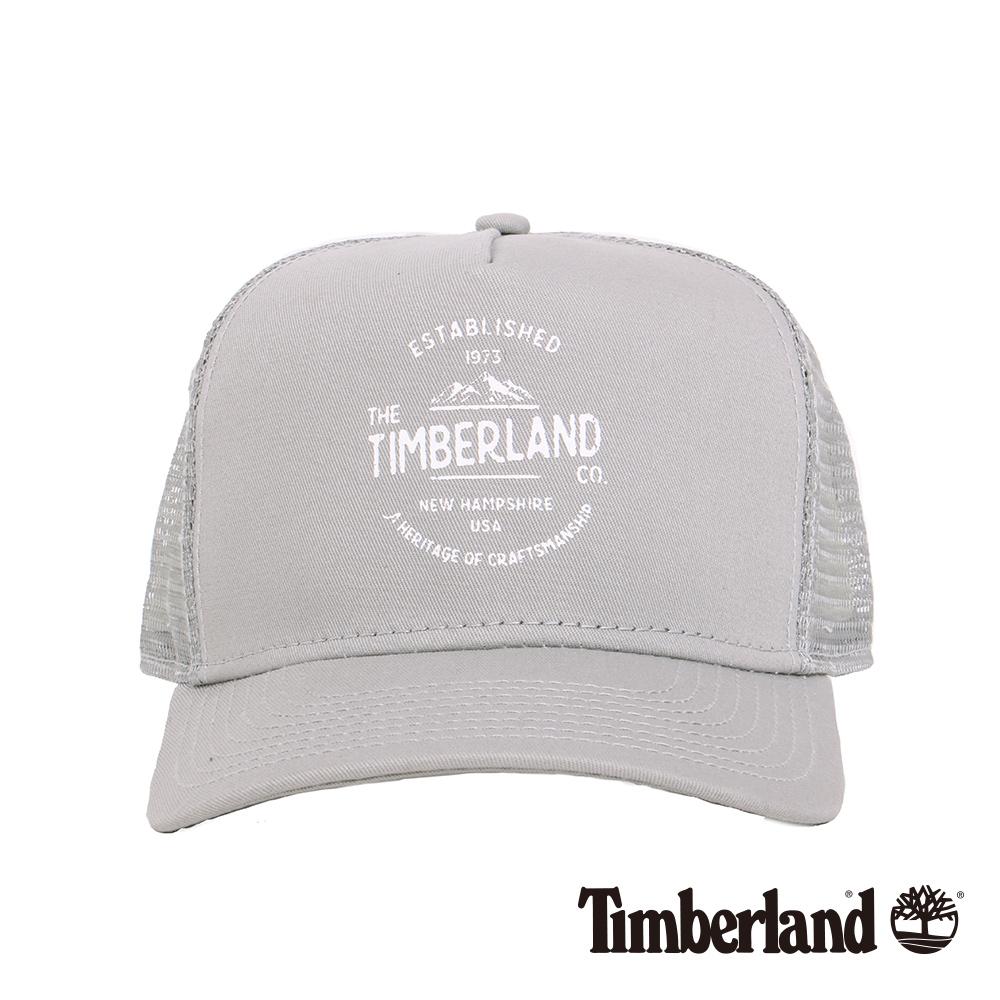 Timberland淺灰色大山品牌印花卡車帽