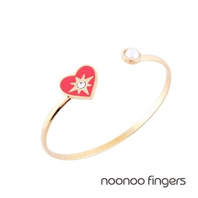 Noonoo Fingers Mashangs Bracelet 愛心光芒珍珠手環