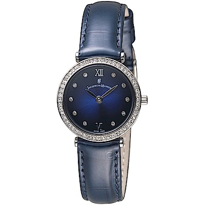 Jacques du manoir雞尾酒系列時尚華麗腕錶(C-SBS 藍)