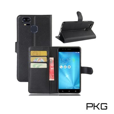 PKG ASUS ZenFone3 ZOOM ZE553KL 側翻式皮套經典皮革...