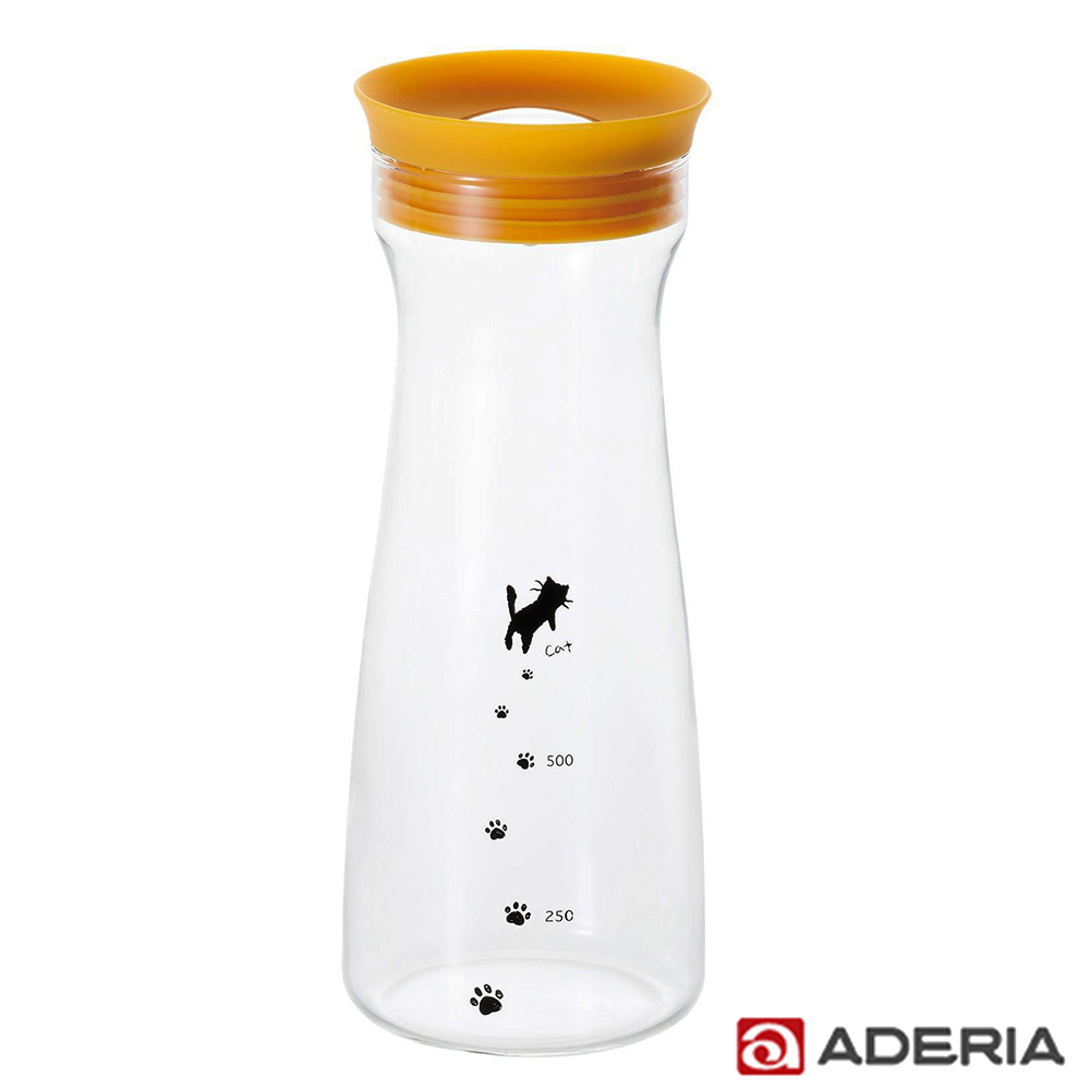 【ADERIA】日本進口貓咪耐熱玻璃冷水瓶900ml product image 1