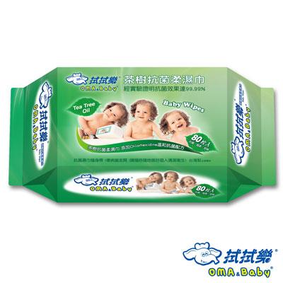 拭拭樂茶樹抗菌柔濕巾-80抽-包
