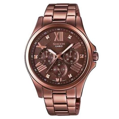 SHEEN 羅馬時刻SWAROVSKI風貌腕錶(SHE-3806BR-5A)-金褐/39.3mm