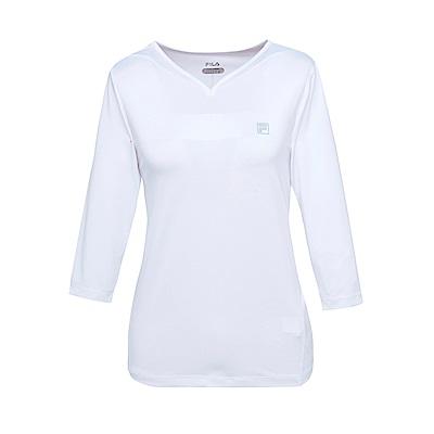 FILA 女抗UV吸濕排汗T恤-白5TES-1311-WT