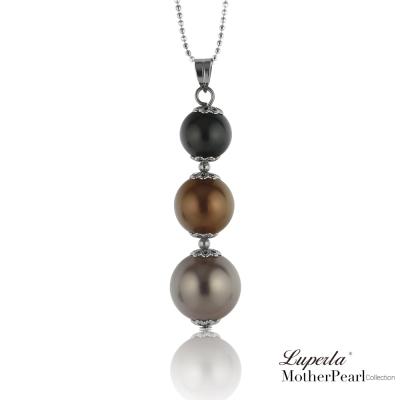 大東山珠寶 南洋貝寶珠三色串珠墬飾 巧克力