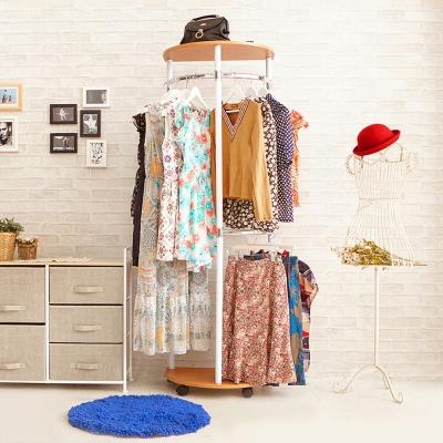 澄境 便利型臥室玄關收納衣帽架-櫸木紋-DIY