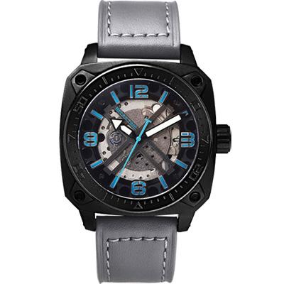 Relax Time RT39 X 鏤空機械限量腕錶-灰/45mm