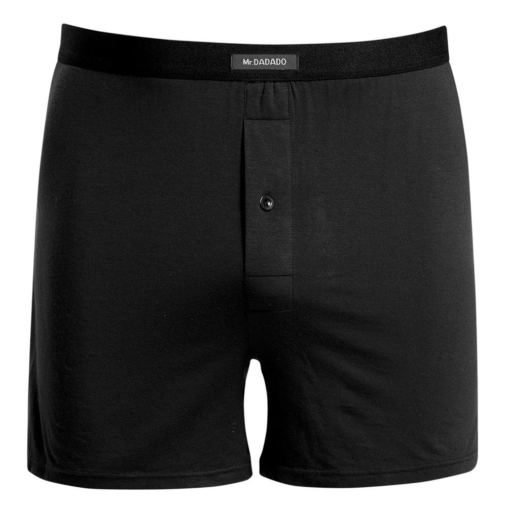 DADADO 基礎系列Modal纖維 M-LL長版四角褲(舒適黑)