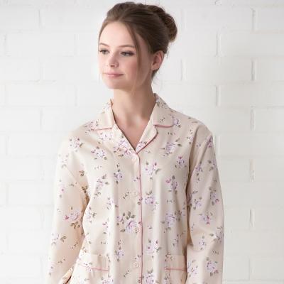 羅絲美睡衣 - 甜蜜玫瑰長袖褲裝睡衣(雅黃色)
