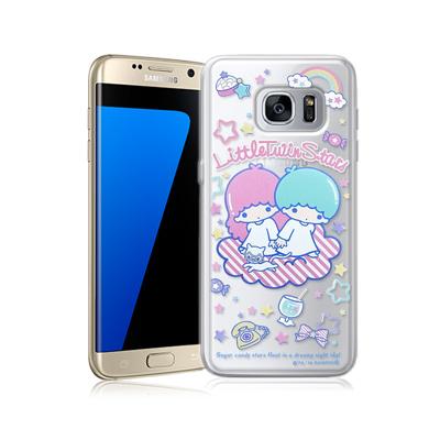 三麗鷗正版 雙子星 三星 Galaxy S7 edge 透明軟式保護殼(休閒)