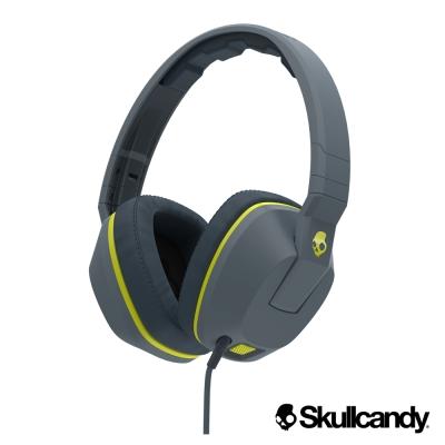 美國Skullcandy 潮牌Crusher跨許 大耳罩式震動耳機-灰黃色(公司貨)