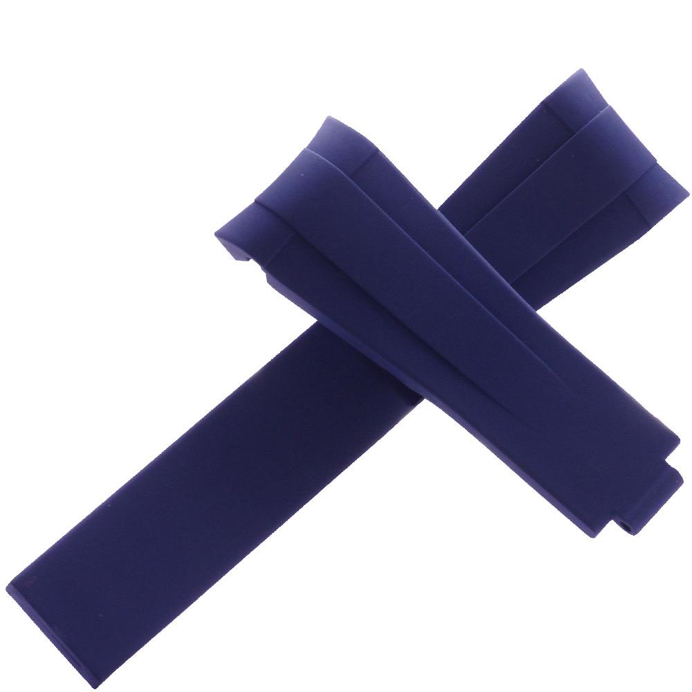 瑞士頂級Rubber B橡膠帶套組-勞力士116610黑水鬼專用-20*18藍