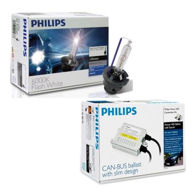 PHILIPS飛利浦 6000K HID 氙氣車燈升級套件-H4遠近燈