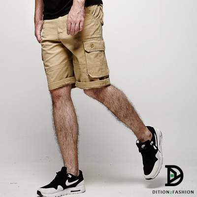 DITION 美式OUTDOOR多口袋水洗工作褲 大尺碼 機能