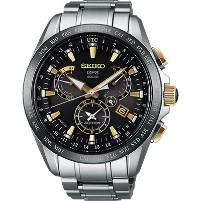 SEIKO ASTRON GPS 鈦 衛星太陽能電波腕錶(SSE073J1)-45mm