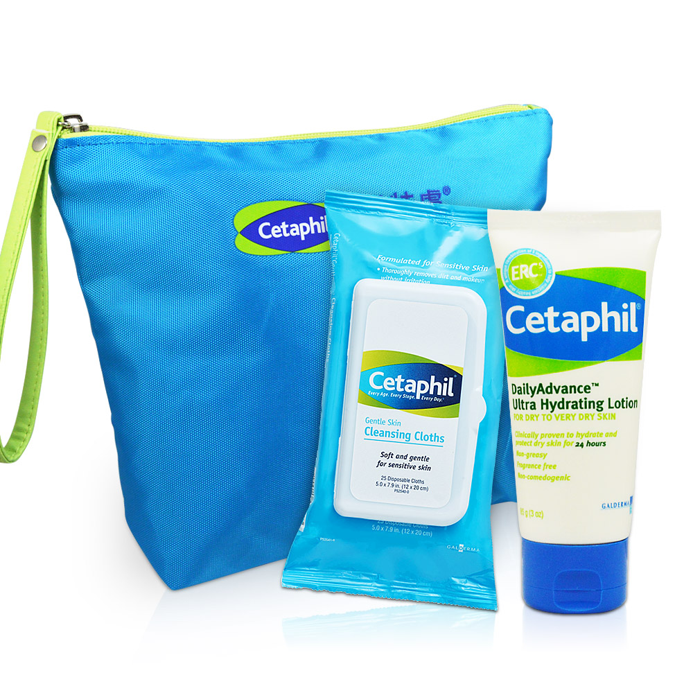 Cetaphil舒特膚 精華保濕(溫和多效潔膚棉25片 ERC5強護保濕精華乳85g)